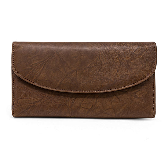 Mundi Leather Framed Checkbook Wallet