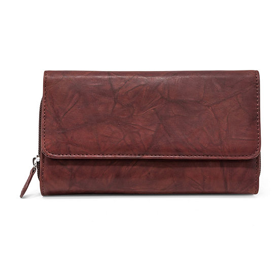 Mundi Leather Checkbook Wallet