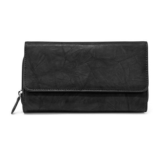 Mundi Leather Checkbook Wallet