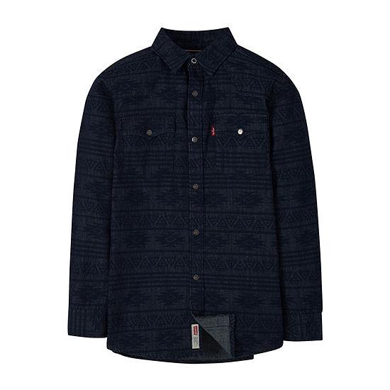 Levi's Big Boys Long Sleeve Western Shirt