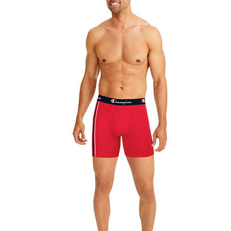 Champion 4 Pack Boxer Briefs, Large , White