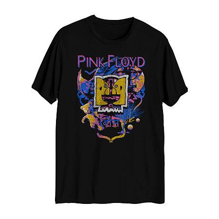 Mens Crew Neck Short Sleeve Music Graphic T-Shirt, Small , Black