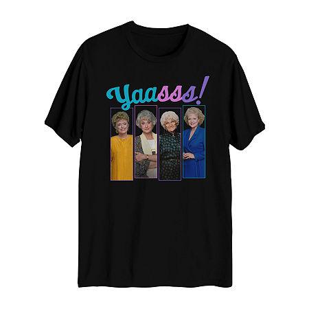 Tv + Movie/Pop Culture Mens Crew Neck Short Sleeve Graphic T-Shirt, X-large , Black