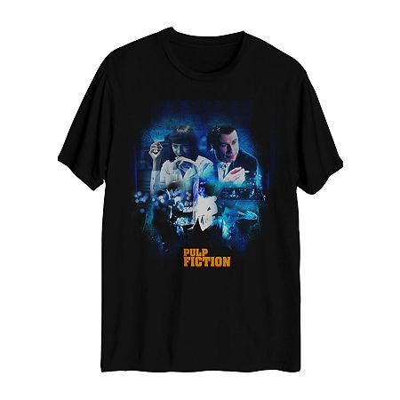 Tv + Movie/Pop Culture Mens Crew Neck Short Sleeve Graphic T-Shirt, Medium , Black