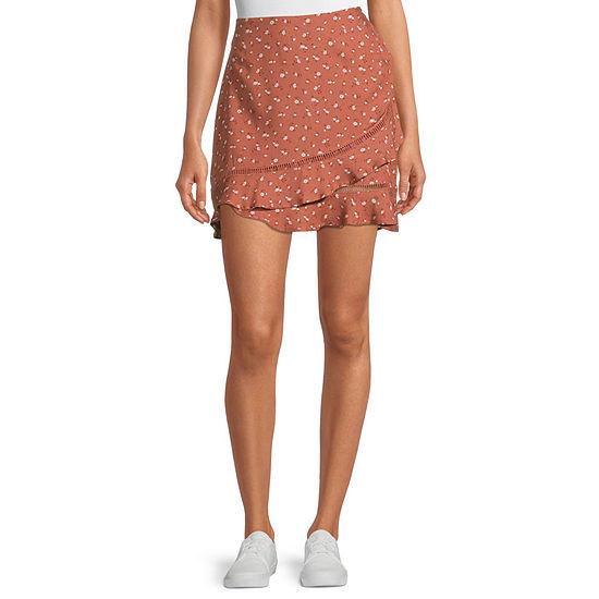Arizona Womens Asymmetrical Skirt-Juniors