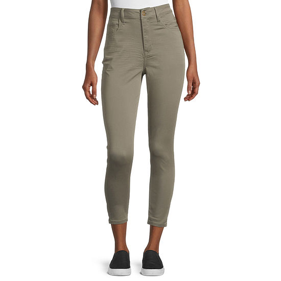 Arizona-Juniors Womens High Rise Skinny Fit Ankle Pant