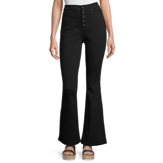 a.n.a Womens High Rise Regular Fit Flare Jean
