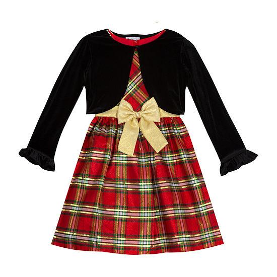 Sweet Charmers Little & Big Girls 2-pc. Jacket Dress