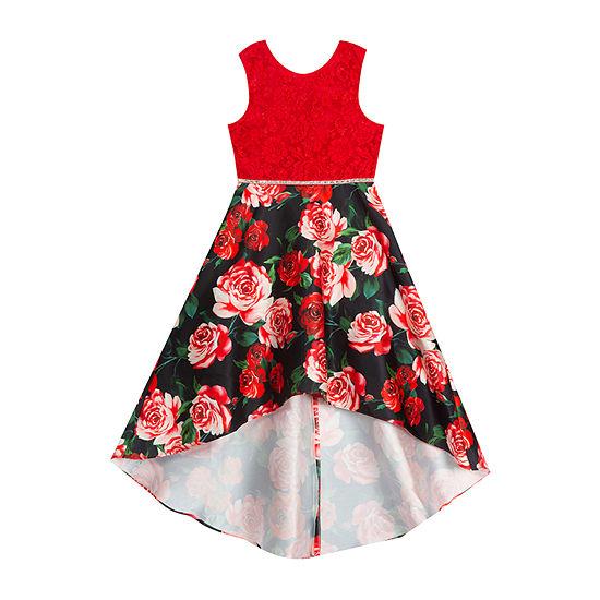 Rare Editions Little & Big Girls Sleeveless High-Low Party Dress