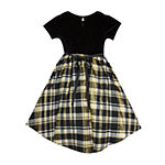 Sweet Charmers Little & Big Girls Short Sleeve High-Low Party Dress