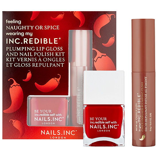 NAILS INC. Naughty or Spice Lip Gloss and Nail Polish Set