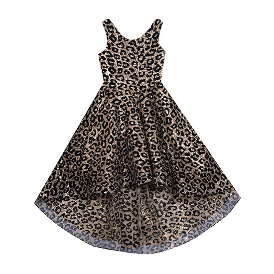 Rare Editions Big Girls Sleeveless High-Low Party Dress