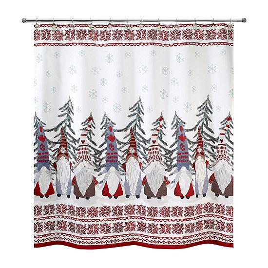 Avanti Christmas Gnome Shower Curtain