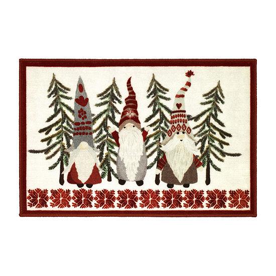 Avanti Christmas Gnome Bath Rug