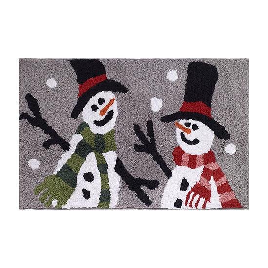 Avanti Snowman Christmas Bath Rug