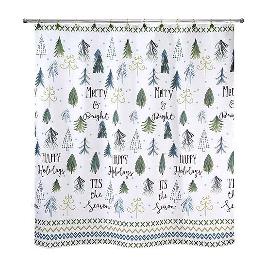 Avanti Christmas Trees Shower Curtain