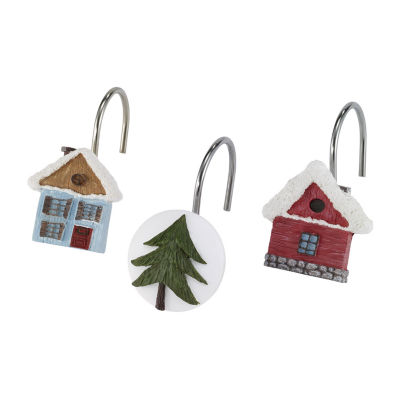 Avanti Christmas Village Shower Curtain Hooks