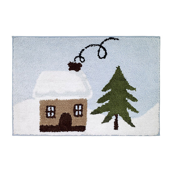 Avanti Christmas Village Bath Rug