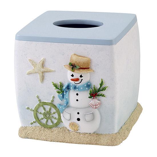 Avanti Coastal Snowman Tissue Box Cover