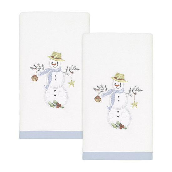 Avanti Coastal Snowman 2-pc. Fingertip Towel