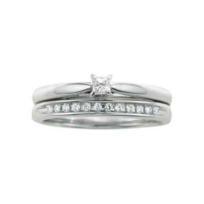 I Said Yes™ 1/6 CT. T.W. Certified Diamond Bridal Set