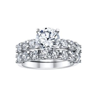 DiamonArt® 4 CT. T.W. Cubic Zirconia Bridal Ring Set
