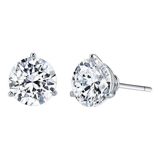 DiamonArt® Cubic Zirconia 4 CT. T.W. Stud Earrings
