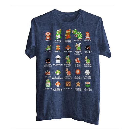 Pixel Mario Cast Graphic Tee