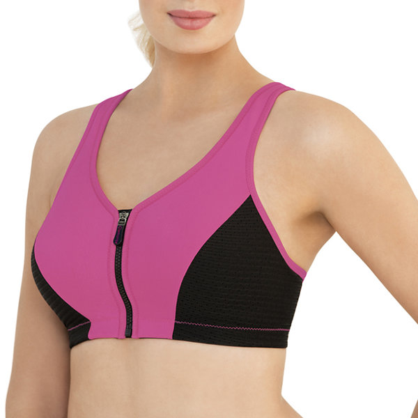 Glamorise Magiclift® High Impact Zip-Front Wireless Racerback Unlined Sports Bra-1266