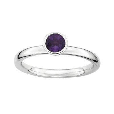 Personally Stackable Genuine Amethyst Ring
