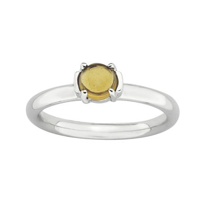 Personally Stackable Citrine Ring