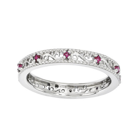 Fine Jewelry Personally Stackable Lab-Created Ruby Eternity Ring