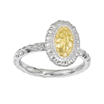 Personally Stackable 18K Gold Over Sterling Silver Sunflower Ring