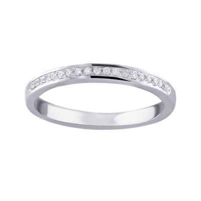 Cherished Hearts™ 1/10 CT. T.W. Diamond 14K White Gold Wedding Band