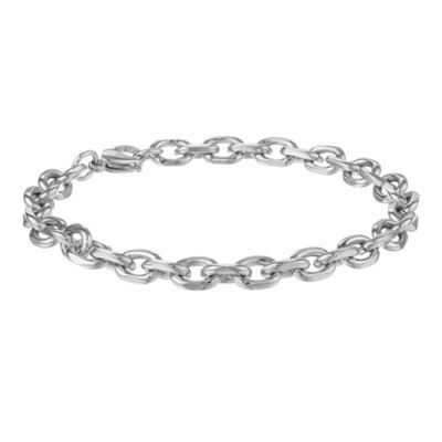 "Mens Stainless Steel 9"" 7mm Rolo Bracelet"
