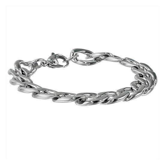 """Mens Stainless Steel 9"""" 13mm Chunky Curb Bracelet"""