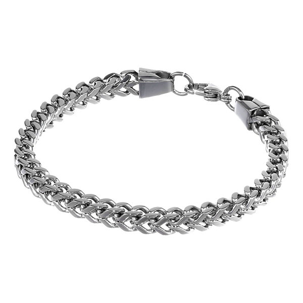 "Mens Stainless Steel 9"" 6mm Foxtail Bracelet"
