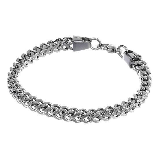 "Mens Stainless Steel 9"" 6mm Foxtail Bracelet"