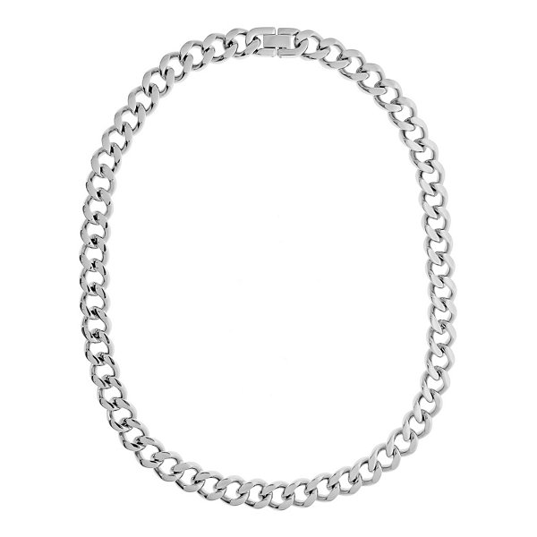 "Mens Stainless Steel 22"" 12mm Chunky Curb Chain"