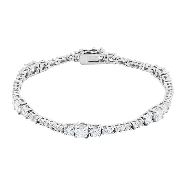 Fine Jewelry DiamonArt Cubic Zirconia Sterling Silver Bangle T770J