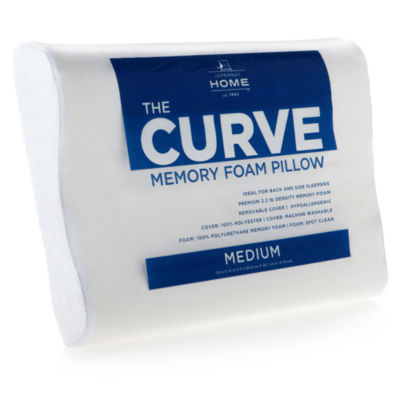 jcpenney home the curve memory foam contour pillow