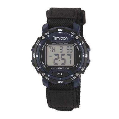 Armitron® Mens Black & Navy Chronograph Digital Sport Watch 40/8291BLU