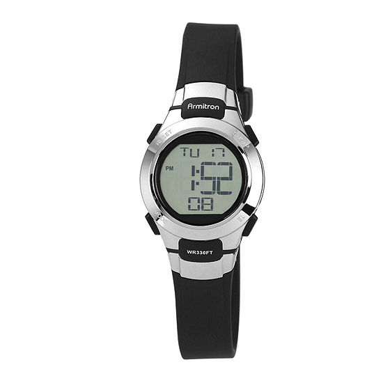 Armitron Pro Sport Womens Black Strap Watch-45/7012blkj