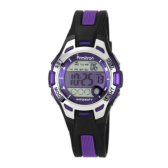 Armitron® Womens Purple Chronograph Digital Sport Watch 45/7030PUR