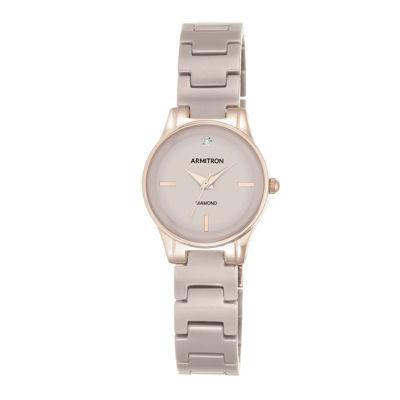 Armitron® Womens Taupe Ceramic Bracelet Watch 75/5348TPRG
