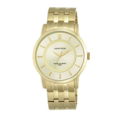 Armitron® Mens Gold-Tone Stainless Steel Link Watch 20/4962CHGP