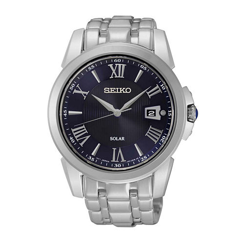 Seiko® Le Grand Sport Mens Stainless Steel Solar Sport Watch SNE395