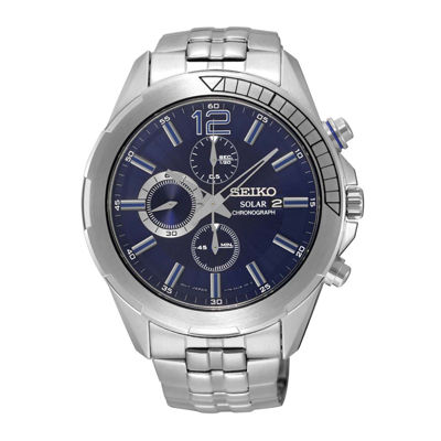 Seiko® Recraft Mens Solar Chronograph Watch SSC381