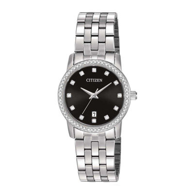 Citizen® Womens Stainless Steel Crystal-Accent Bracelet Watch EU6030-56E