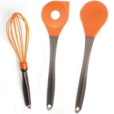 BergHOFF® Geminis 3-pc. Silicone Spoon and Whisk Set